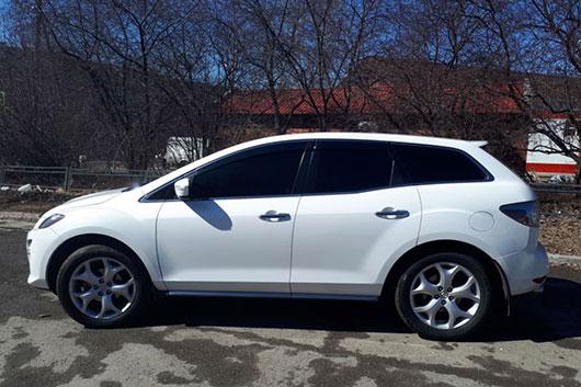 Заблокирован руль Mazda